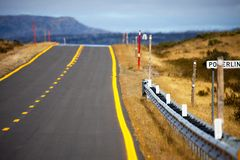 Highway in Outback Australia Royalty Free Stock Images