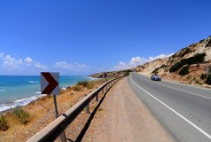 Highway over the beach Royalty Free Stock Images