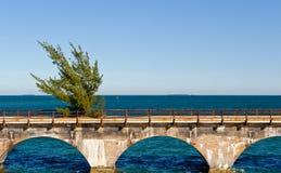Highway over ocean bridge Stock Images