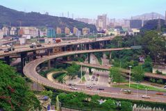 Highway overpass. As rapid economic development, increasingly numbers of highway overpasses have been built in China, this photo taken on May 23, 2010 Stock Photography
