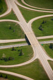 Highway Overpass. An overpass as part of a highway on ramp Royalty Free Stock Photo