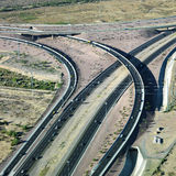 Highway and overpass. Aerial of route 101 and route 51 highways and overpass in Arizona Royalty Free Stock Image