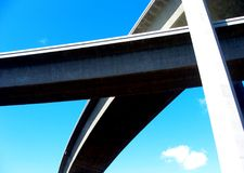 Highway overpass abstract. Highway overpass in San Diego, California Stock Photos