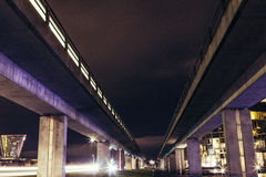 Highway Overpass from Below Royalty Free Stock Image