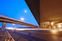 Highway and overpass Stock Image