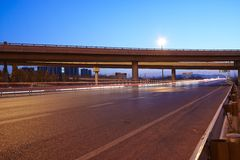 Highway and overpass Royalty Free Stock Photography