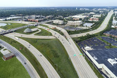 Highway, Overpass and Ramp Aerial Royalty Free Stock Image