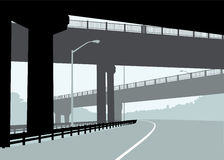 Highway Overpass Royalty Free Stock Images