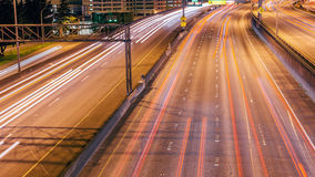 Highway Overpass. Time-lapse of a highway overpass in Seattle Washington stock video footage
