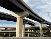 Highway Overpasses. In a complex traffic interchange Stock Photo