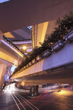 Highway overpasses night Royalty Free Stock Photography