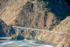 Highway 1 on the pacific coast, California, USA. Royalty Free Stock Photography