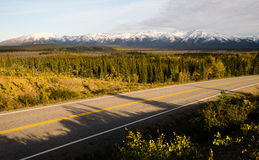 Highway Passes Through Changing Colors Alaska Mountains Autumn S Royalty Free Stock Image