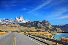 The highway in Patagonia Stock Images