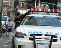 Highway Patrol. Cruiser in New York City Stock Photos