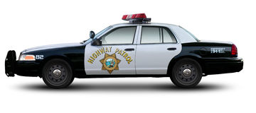 Highway patrol car. Royalty Free Stock Photography
