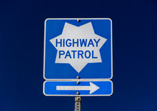 Highway Patrol Sign Royalty Free Stock Photos