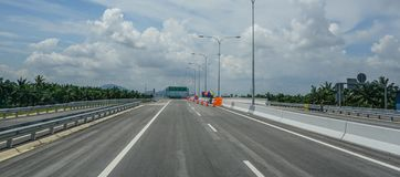 Highway in Penang, Malaysia stock image