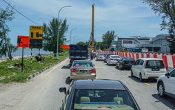 Highway in Penang, Malaysia stock photography