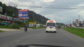 Highway of Phuket Island stock video
