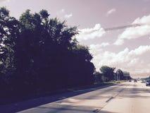highway Piccole nubi buon tempo Fotografia Stock