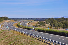 Highway. In Portugal near Lisbon Royalty Free Stock Photos
