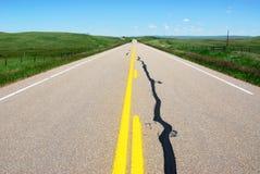 Highway on prairie Stock Photos