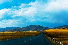 Highway on the Prairie. Eastphoto, tukuchina,  Highway on the Prairie Royalty Free Stock Images