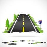 Highway Puzzle Illustration Stock Photo