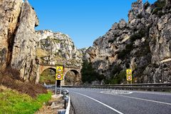 Highway in the Pyrenees Royalty Free Stock Photography