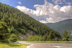 Highway in Pyrenees mountains Stock Images