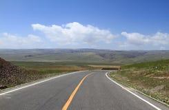 Highway in qinghai lake. China Royalty Free Stock Photo