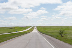 Highway receding into distance Stock Photos