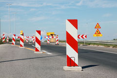 Highway in reconstruction Stock Photo