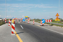 Highway in reconstruction Stock Image