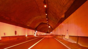 Highway Red Tunnel Rage Camera Car at High Speed 4k stock video