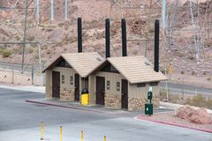 Highway rest stop. Arizona highway rest stop - accessible restrooms on a parking place Royalty Free Stock Photography