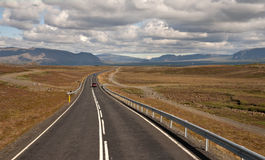 Highway in Reykjavik, Iceland Stock Photo