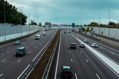 Highway Ring A10 Amsterdam stock image