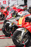 Highway-ring motorcycle races Royalty Free Stock Photo