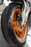 Highway-ring motorcycle races Royalty Free Stock Image