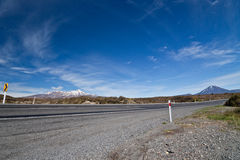 Highway road around mountains - New Zealand Royalty Free Stock Image