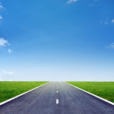 Highway road  with blue sky Stock Image