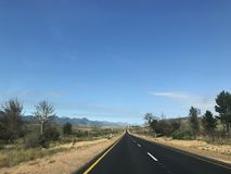 Highway Or Road Between Cape Town And Port Elizabeth South Afric. Empty Highway Or Road Between Cape Town And Port Elizabeth South Africa Royalty Free Stock Photography