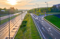 Highway road in the city Royalty Free Stock Image