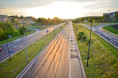 Highway road in the city Stock Photography