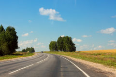 Highway road in the field Royalty Free Stock Photos