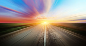 Highway road. Forward direction. Outdoor trip panorama stock photography