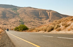 Highway road .Galilee. North Israel . A view of a highway road .Landscape Of North Galilee In Early winter, Israel royalty free stock photos