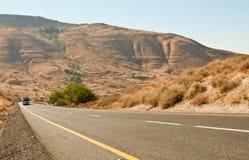 Highway road .Galilee. North Israel . Royalty Free Stock Photos